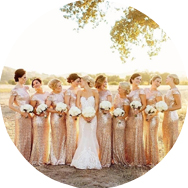 Gold Bridesmaid Dresses for Sale