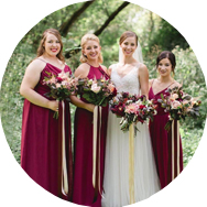 Red Bridesmaid Dresses for Sale