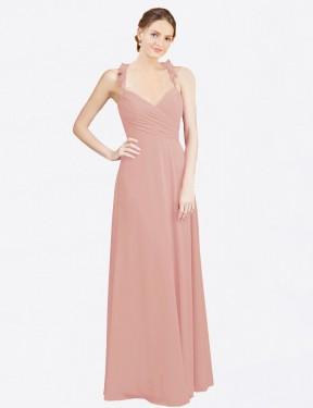 A-Line Sweetheart Floor Length Long Bliss Chiffon Dana Bridesmaid Dress for Sale