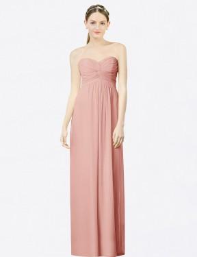 A-Line Sweetheart Floor Length Long Bliss Chiffon Kiara Bridesmaid Dress for Sale