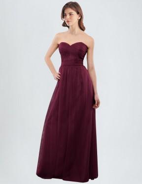 A-Line Sweetheart Floor Length Long Tulle Jasmine Bridesmaid Dress for Sale