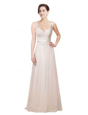 Sheath V-Neck Chapel Train Long Ivory Lace Londyn Wedding Dress for Sale