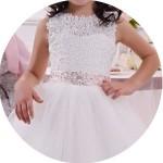 Bateau Flower Girl Dresses for Sale