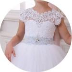 Cap Sleeve Flower Girl Dresses for Sale