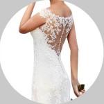 Button Back Wedding Dresses for Sale