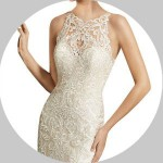 Illusion Neck Wedding Dresses for Sale