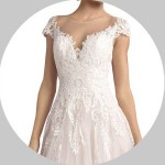 Cap Sleeves Wedding Dresses for Sale